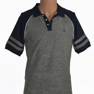 NEW! Penguin Sz S Small Gray Short Sleeve Polo
